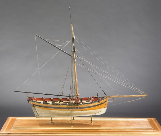 12 Gun Naval Cutter, Surly, Georgian Model