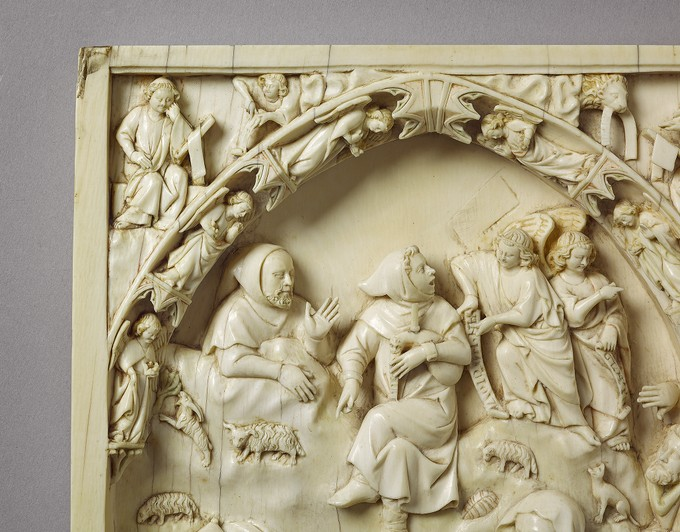 Diptych: The Nativity and The Annunciation to the Shepherds; The Last Judgement