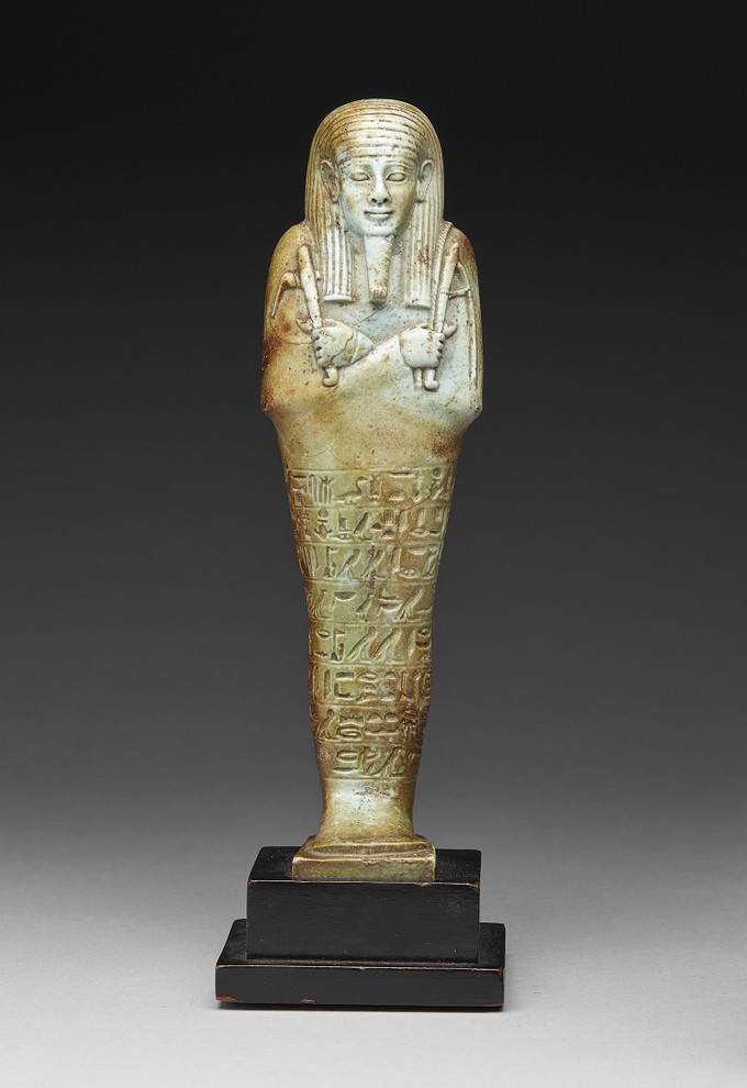 Green Faience Ushabti Figure of Nefer-Ib-Re-Sa-Neith