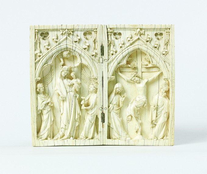 Diptych: The Virgin and Child, and The Crucifixion
