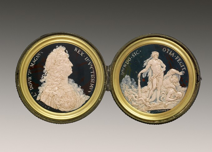 Model for a Medal: Portrait of King Louis XIV, and Hercules Victorious over the Lernean Hydra