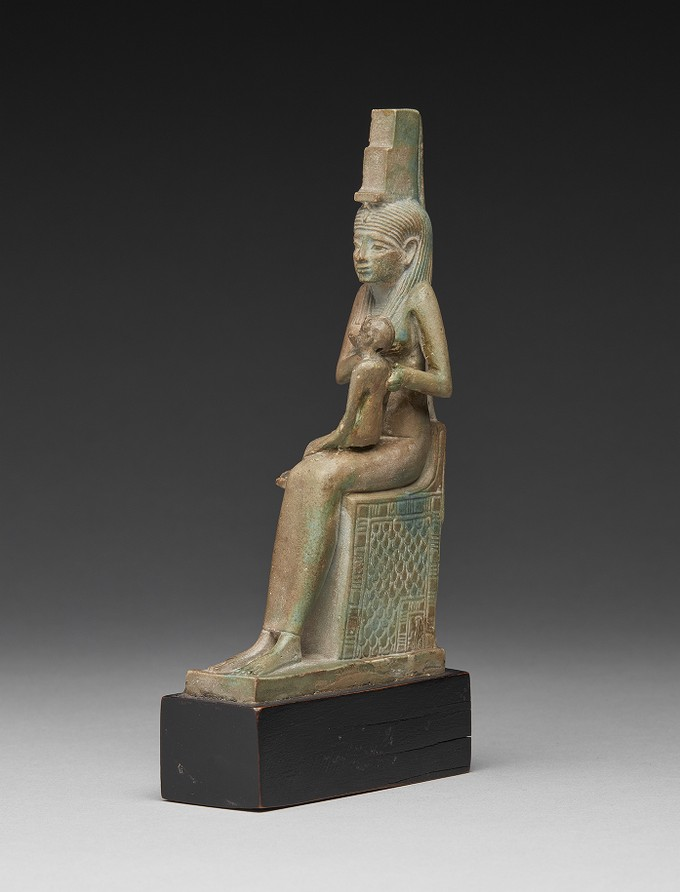 Green Glazed Composition Figure of the Goddess Isis