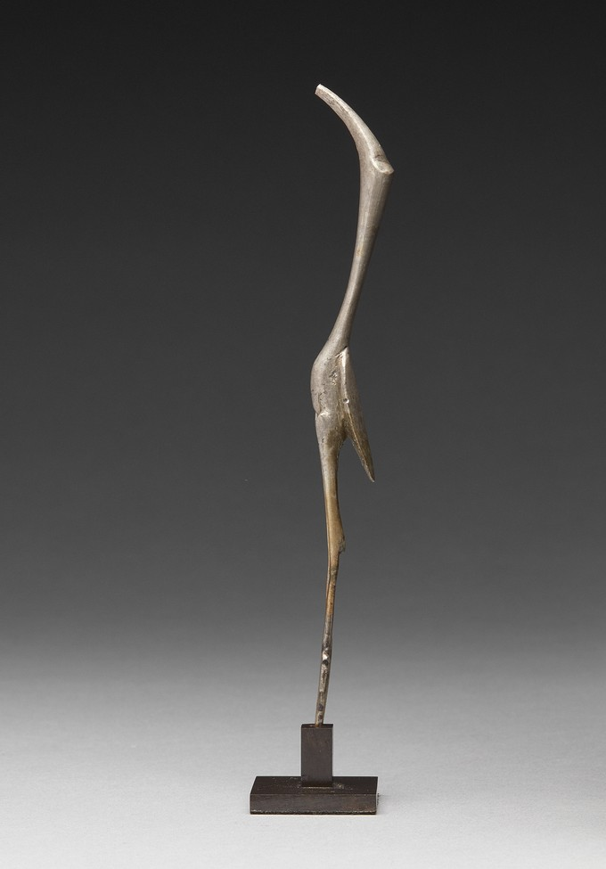 Silver Cochleare of a Long Necked Bird