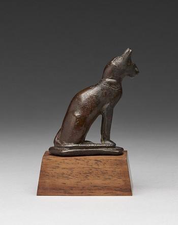 Bronze Seated Cat