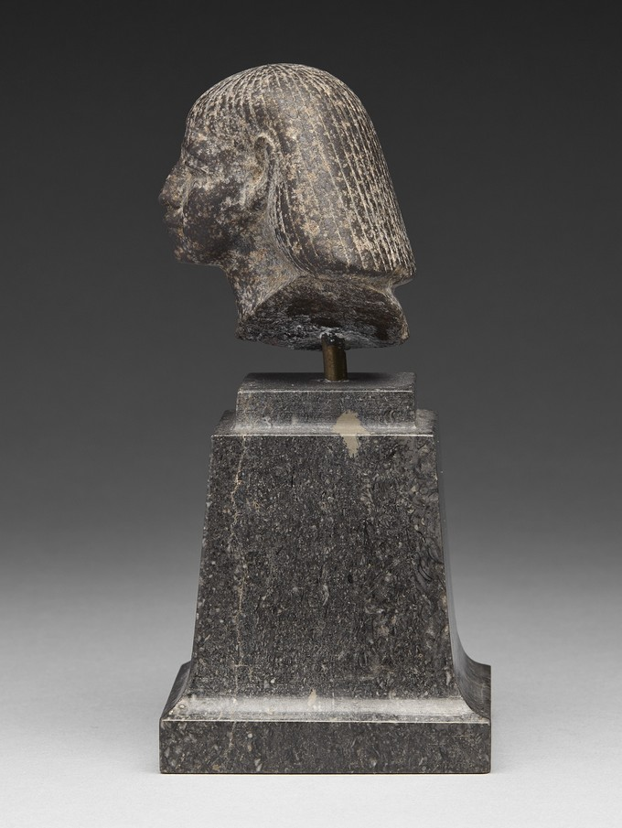 Grey Granite Head of an Official