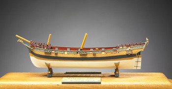 18 Gun Schooner Yacht, Transport Royal (vessel built 1695), Miniature Model