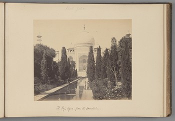 [The Taj Mahal, Agra, from the Fountain]   from Indian Views