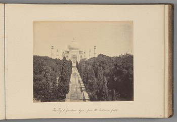[The Taj Mahal and Gardens, Agra, from the Entrance Gate]   from Indian Views