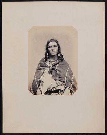 266. Echahla Ben Ehbala (26 years old) Arab woman of the Ilbarnia tribe (Constantine province). Height: 1m, 60cm – Black hair and eyes (Arab father and mother). Photographed in Paris.