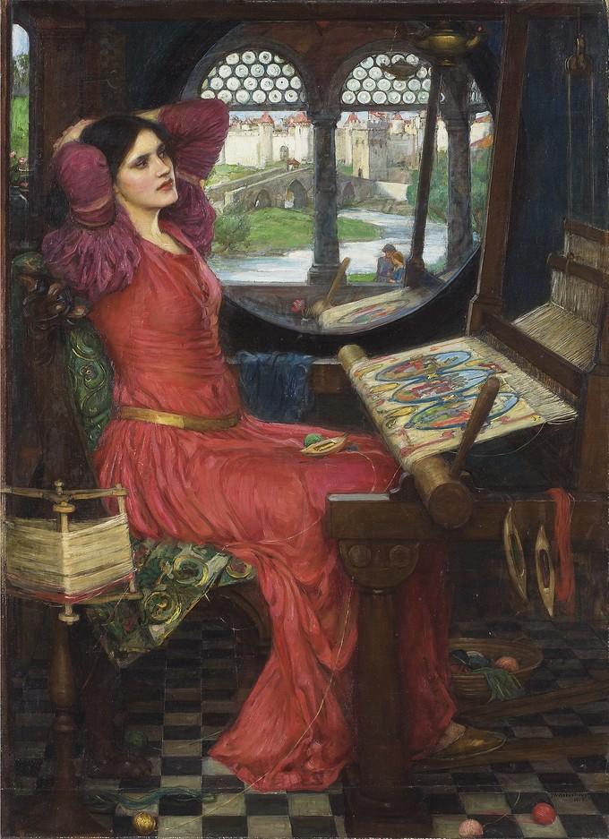 """ 'I am half sick of shadows,'  said The Lady of Shalott"" (Alfred, Lord Tennyson, The Lady of Shalott, Part II)"