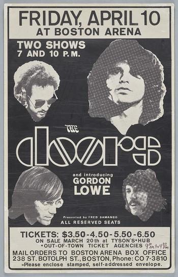 The Doors, April 10, Boston Arena, Boston MA