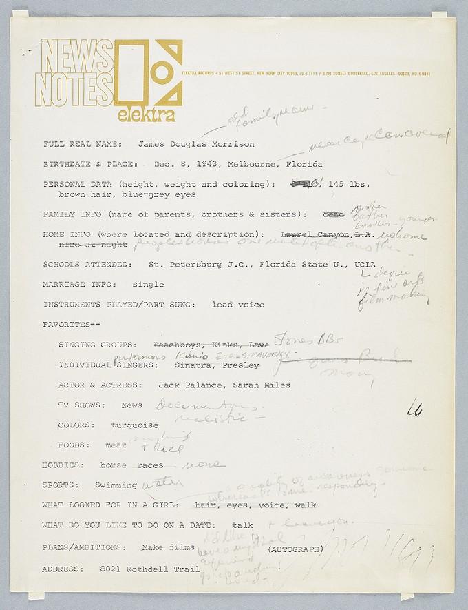 Elektra Records News-Notes