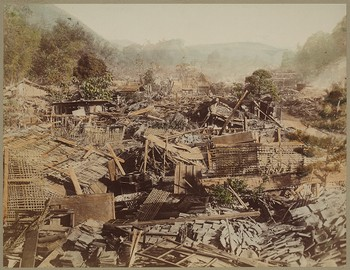 Village Wrecked by Earthquake