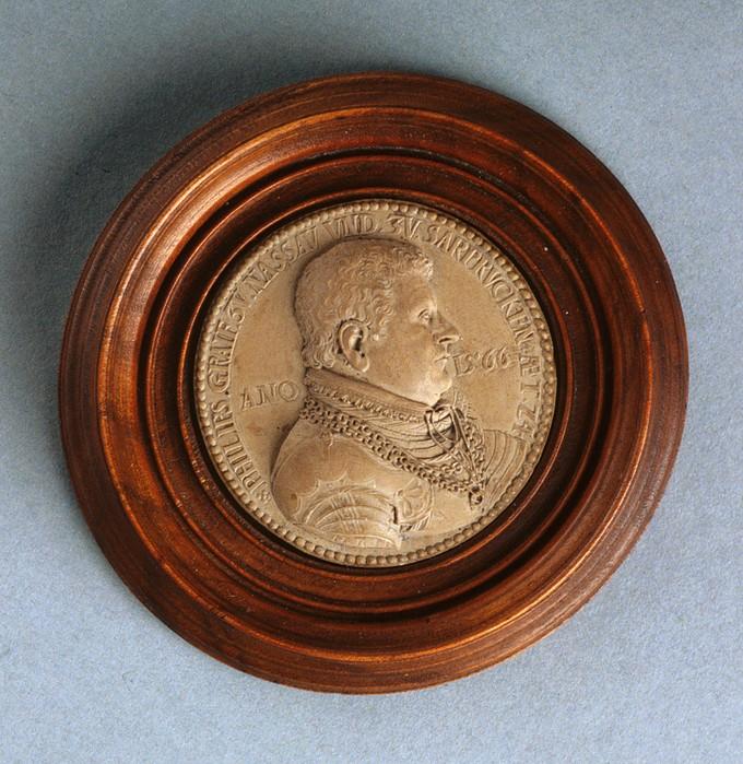 Model for a Medal: Portrait of Count Philip IV Nassau-Saarbrucken