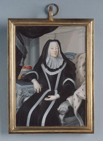 Portrait of Margravine Magdalene Wilhelmine of Baden-Durlach as a widow