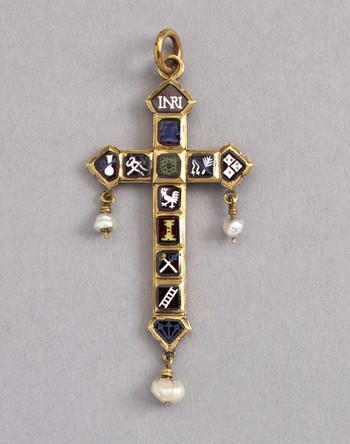 Pendant Cross: Instruments of The Passion of Christ