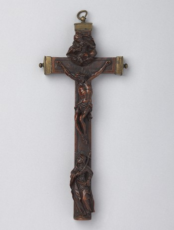 Reliquary: Christ Crucified, God the Father, and Mary Magdalene