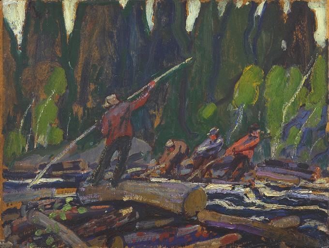 Logging, Nova Scotia, Near Bedford