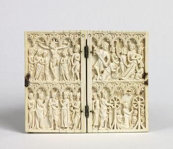 Diptych: Crucifixion of Christ, Scenes from the Life of Saint Catherine of Alexandria