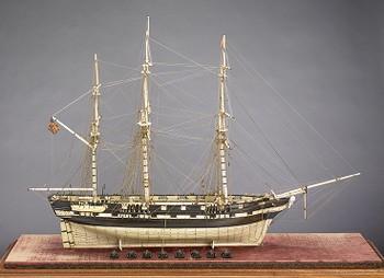 Ship Model of the 'Commandeered Merchantman'